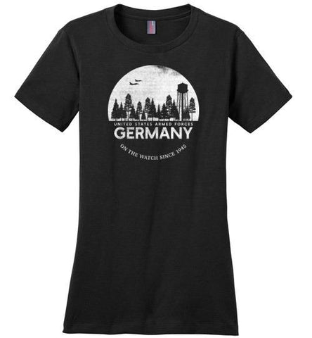 "U.S. Armed Forces Germany ""On The Watch Since 1945"" - Women's Crewneck T-Shirt"