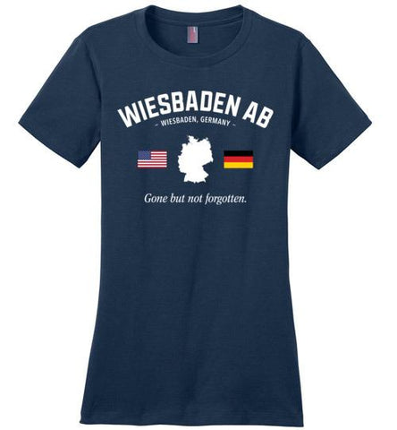 "Wiesbaden AB ""GBNF"" - Women's Crewneck T-Shirt-Wandering I Store"