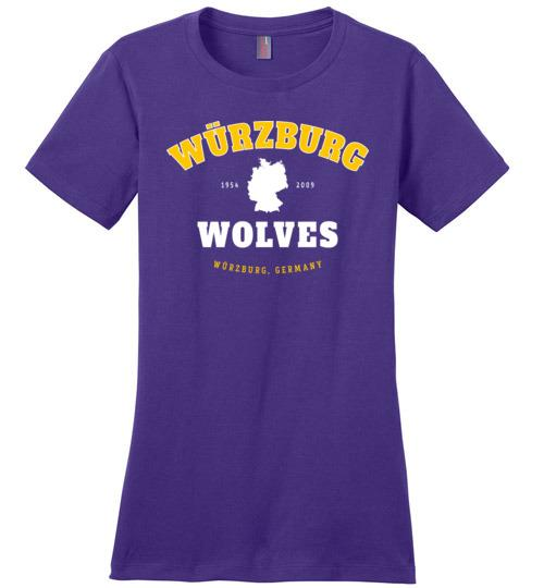 Wurzburg Wolves - Women's Crewneck T-Shirt-Wandering I Store