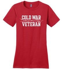 Cold War Veteran - Women's Crewneck T-Shirt-Wandering I Store