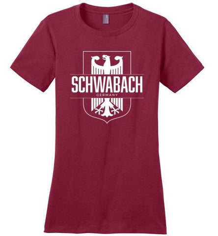 Schwabach, Germany - Women's Crewneck T-Shirt-Wandering I Store