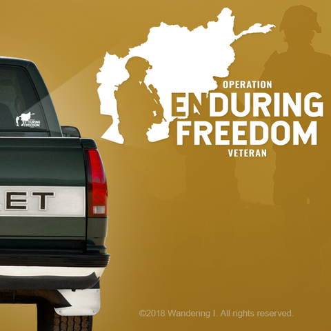 Operation Enduring Freedom Vehicle Window Sticker