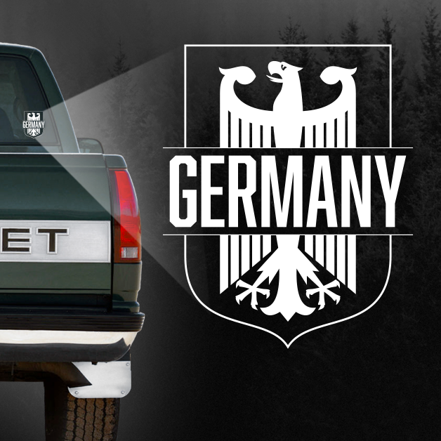 """Germany"" - Vehicle Window Sticker-Wandering I Store"