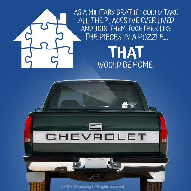 """Pieces In A Puzzle"" – Vehicle Window Sticker-Wandering I Store"