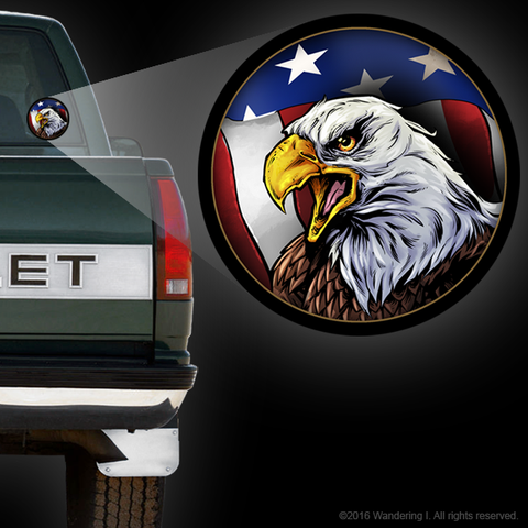 """American Eagle"" Die-Cut Vinyl Sticker"