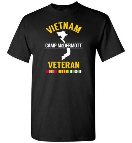 "Vietnam Veteran ""Camp McDermott"" - Men's/Unisex Standard Fit T-Shirt-Wandering I Store"