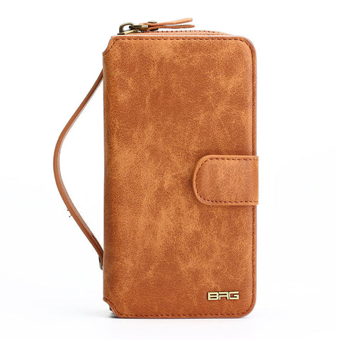 STUNNING LEATHER ORGANIZER WALLET CASE COVER FOR SAMSUNG