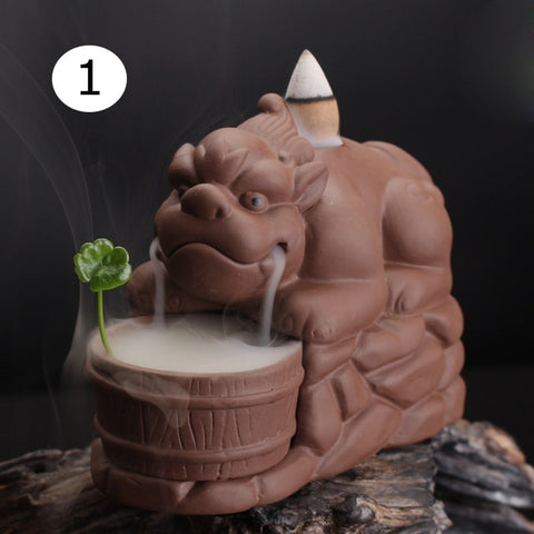 CREATIVE PURPLE SMOKE BACKFLOW CONE INCENSE BURNER