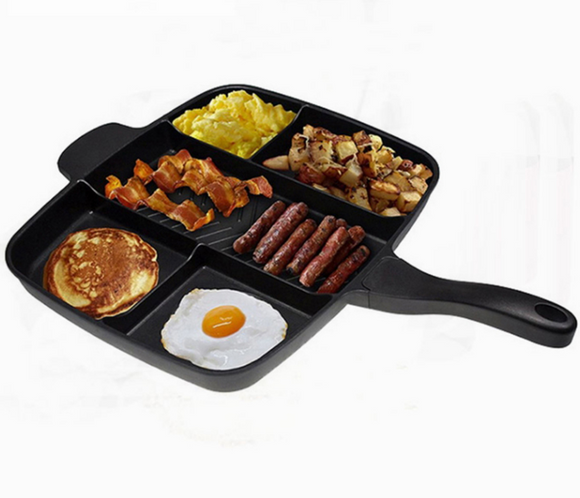 5 in 1 Magic Grill Pan Master Non-Stick Divided Skillet - Blue Star Collections
