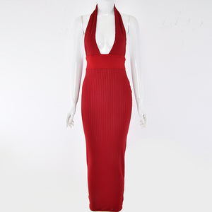 Elegant Backless Sleeveless Bodycon Dress