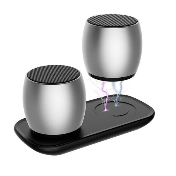 1 Pair Mini Dual Speakers with Charging Base