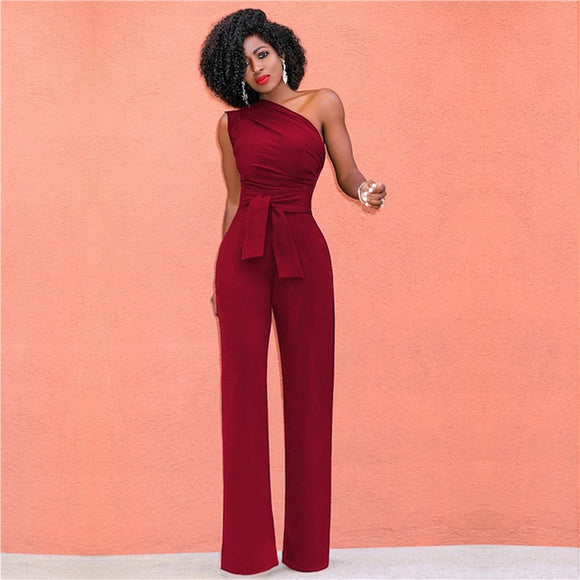 Women Off Shoulder Casual Wide Leg Elegant Jumpsuit