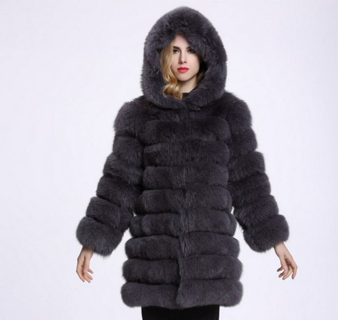 Women's Warm Plush Faux Fur Coat