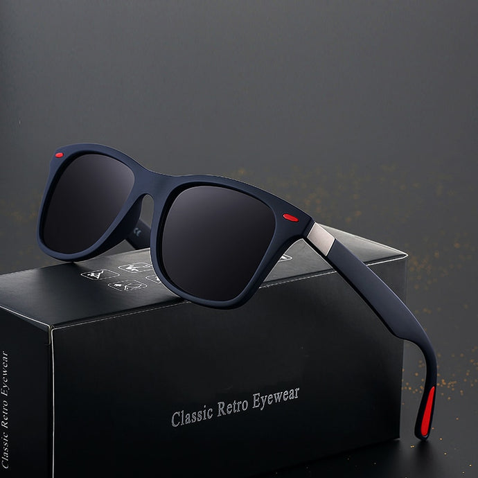 Polarized Classic Retro Square Frame Sunglasses