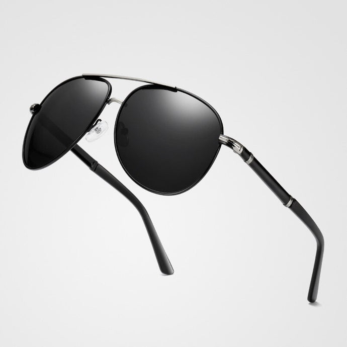 Designer Pilot Style Polarized Male Sunglasses