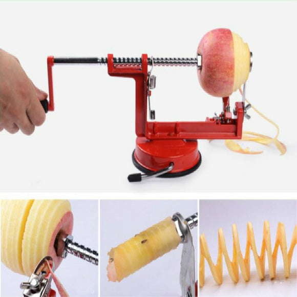 3 in 1 Apple Peeler Fruit Peeler Slicing Tool - Blue Star Collections