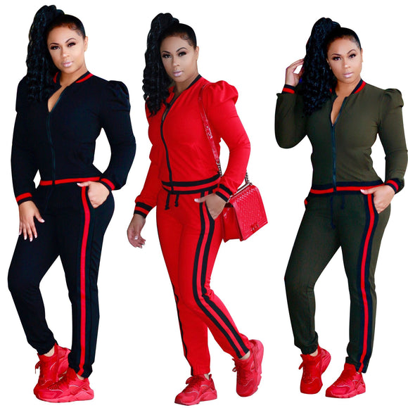 Comfortable Fit Casual Sports Tracksuit