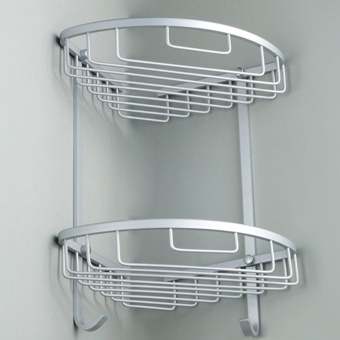 Layer Washroom Corner Aluminum Shelf - Blue Star Collections
