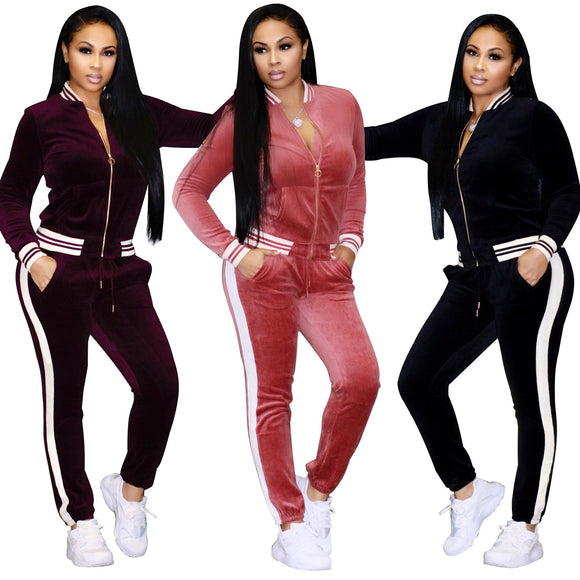 Women's Leisure Sports 2 Piece Tracksuit