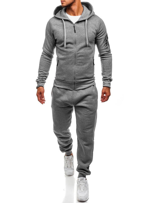 Hot Sale!! ZOGAA Men's Sports and Leisure Slim Joggers SweatSuits Hoodies+Pants Suit