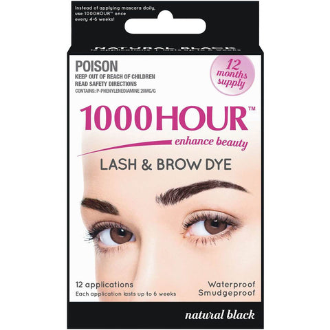 1000 Hour Eyelash and Brow Dye Kit Natural Black