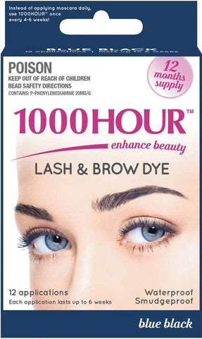 1000 Hour Eyelash and Brow Dye Kit Blue-Black