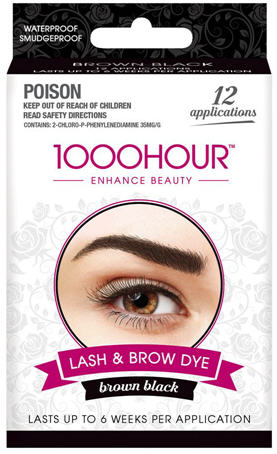 1000 Hour Eyelash and Brow Dye Kit Brown-Black