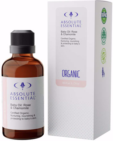 Absolute Essential Baby Oil Rose and Chamomile 50ml