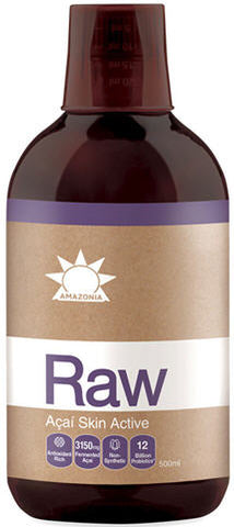 Amazonia Raw Acai Skin Active Liquid 500ml
