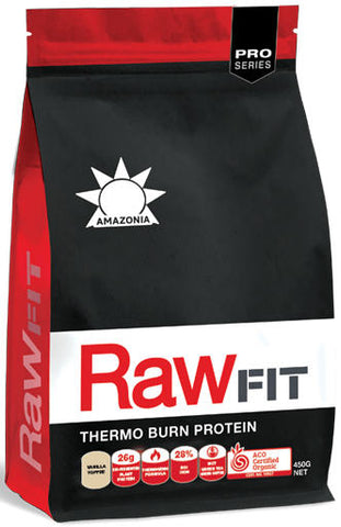 Amazonia RawFit Thermo Burn Protein Vanilla Toffee 450g - New Zealand Only