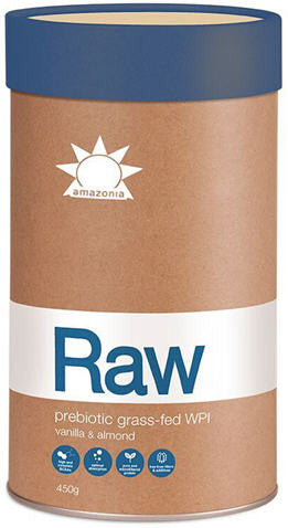 Amazonia Raw Prebiotic Grass-Fed WPI Vanilla and Almond 450g