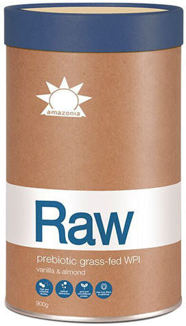 Amazonia Raw Prebiotic Grass-Fed WPI Vanilla and Almond 900g