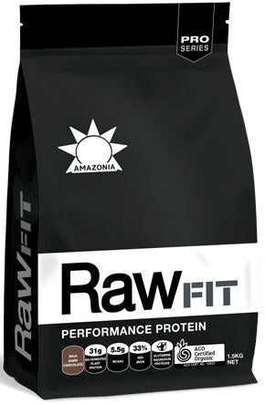 Amazonia RawFit Performance Protein Rich Dark Chocolate 1.5kg - New Zealand Only