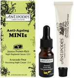 Antipodes Anti-Ageing Minis (Joyous Night Replenish 10ml Plus Avocado Pear Night Cream 15ml)