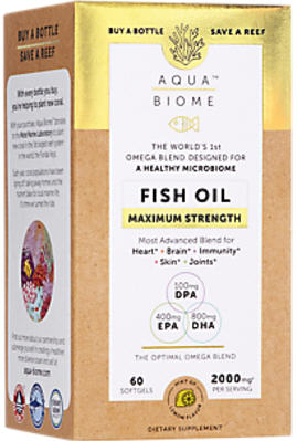 Aqua Biome Fish Oil Max Strength Softgel Capsules 60