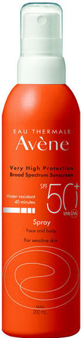 Avene Sunscreen SPF50+ Spray 200ml - New Zealand Only