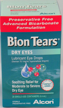 Bion Tears Lubricant Eye Drops 28 x 0.4ml Single Use
