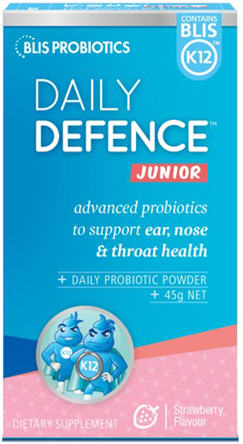 BLIS K12 Daily Defence Probiotic Powder for Toddlers Strawberry 45g