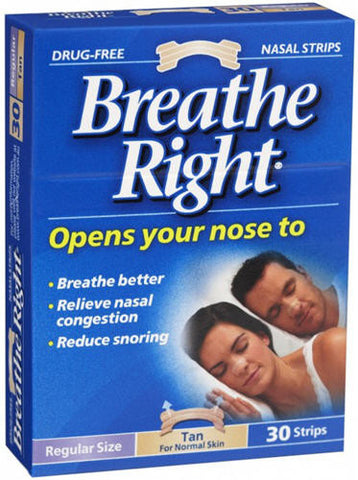 Breathe Right Nasal Strips Tan Regular 10