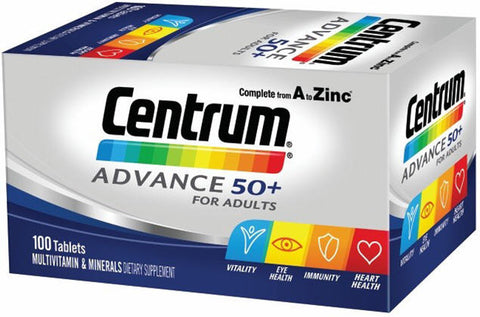 Centrum Advance 50+ Multivitamin & Mineral Tablets 100