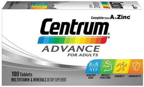 Centrum Advance Multivitamin and Mineral Tablets 100
