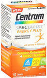 Centrum Specialist Energy Plus Tablets 60