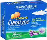Claratyne Children's 5mg Hayfever & Allergy Relief Grape Chewable Tablets 30