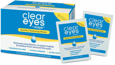 Clear Eyes Wipes Sachets 30