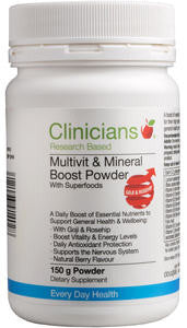 Clinicians Multivit & Mineral Boost Powder with Superfoods 150g
