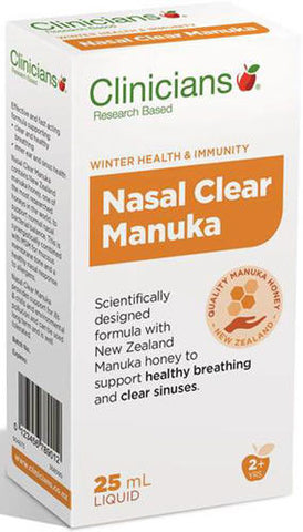 Clinicians Nasal Clear Manuka Spray 25ml