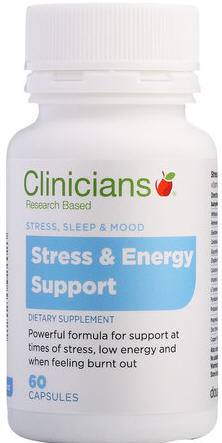 Clinicians Stress & Energy Support Capsules 60