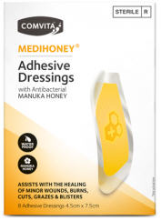 Comvita Medihoney® Adhesive Dressings with Manuka Honey, 8 Dressings