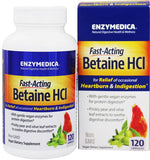 Enzymedica Fast Acting Betaine HCL Capsules 120