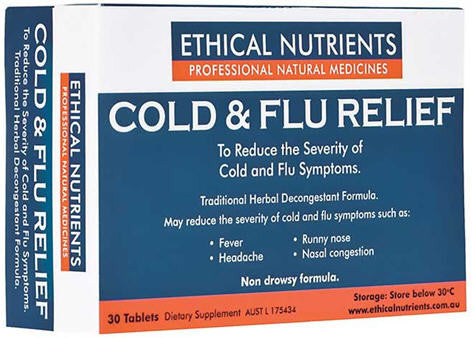 Ethical Nutrients Cold and Flu Relief Tablets 30